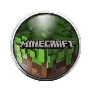 Minecraft - 18MM Glass Dome Candy Snap Charm GD0224