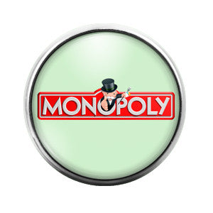 Monopoly - 18MM Glass Dome Candy Snap Charm GD0216
