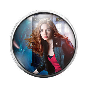 Doctor Who Amy - 18MM Glass Dome Candy Snap Charm GD0353