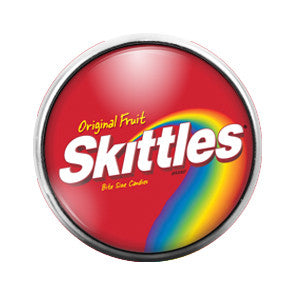 Skittles- 18MM Glass Dome Candy Snap Charm GD0316