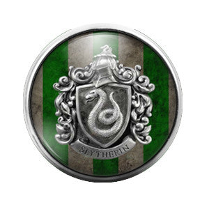 Harry Potter Slytherin- 18MM Glass Dome Candy Snap Charm GD0214