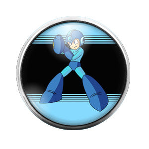 Megaman - 18MM Glass Dome Candy Snap Charm GD0217