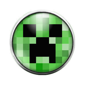 Minecraft- 18MM Glass Dome Candy Snap Charm GD0156