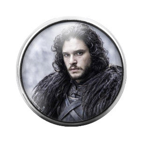Game of Thrones John Snow - 18MM Glass Dome Candy Snap Charm GD0172