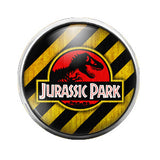 Jurassic Park - 18MM Glass Dome Candy Snap Charm GD0177