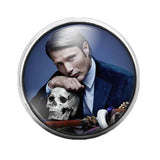 Hannibal - 18MM Glass Dome Candy Snap Charm GD0219
