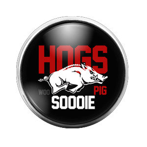 Arkansas Razorbacks - 18MM Glass Dome Candy Snap Charm GD0259