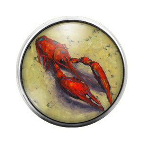 Crawfish - 18MM Glass Dome Candy Snap Charm GD0345