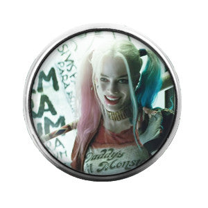 Harley Quinn Suicide Squad- 18MM Glass Dome Candy Snap Charm GD0138