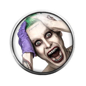 Joker Suicide Squad- 18MM Glass Dome Candy Snap Charm GD0137