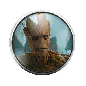 Groot Guardians of the Galaxy - 18MM Glass Dome Candy Snap Charm GD0175