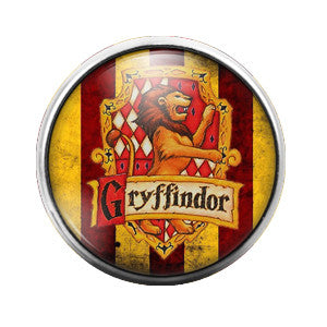 Harry Potter Gryffindor - 18MM Glass Dome Candy Snap Charm GD0176