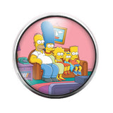 The Simpsons - 18MM Glass Dome Candy Snap Charm GD0223