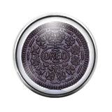 Oreo Cookie - 18MM Glass Dome Candy Snap Charm GD0201