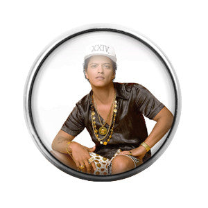 Bruno Mars - 18MM Glass Dome Candy Snap Charm GD0360