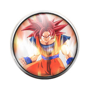 Dragon Ball Z- 18MM Glass Dome Candy Snap Charm GD0318