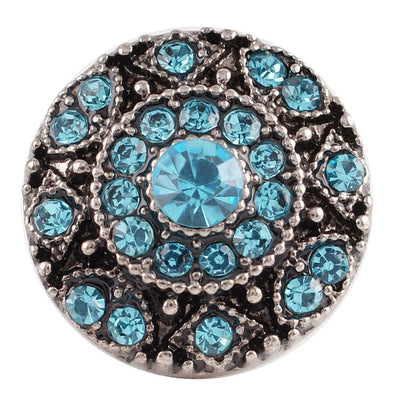 1 PC 18MM Green Rhinestone Silver Charm for Candy Snap Jewelry KC7130 CC2441