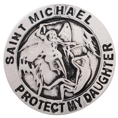 1 PC 18MM Saint Michael Daughter Silver Candy Snap Charm kc5165 CC3246