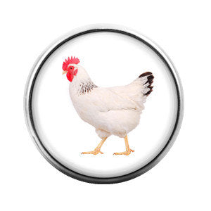 Chicken- 18MM Glass Dome Candy Snap Charm GD0067