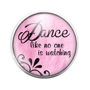 Dance Pink - 18MM Glass Dome Candy Snap Charm GD0089