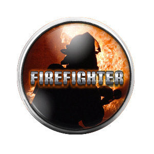Firefighter - 18MM Glass Dome Candy Snap Charm GD0280