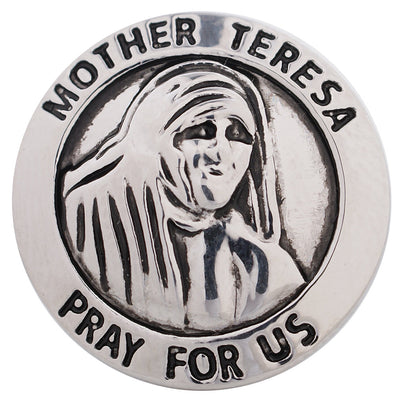 1 PC 18MM Mother Teresa Silver Candy Snap Charm kc5164 CC3245