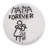 1 PC 18MM Mama Forever Silver Candy Snap Charm kc8572 CC3265