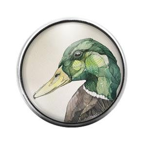 Duck Bird- 18MM Glass Dome Candy Snap Charm GD0979