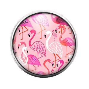 Flamingo - 18MM Glass Dome Candy Snap Charm GD0506