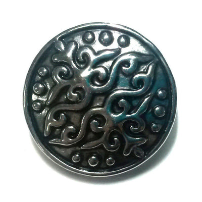 1 PC 18MM Flourish Silver Snap Candy Charm Limited Edition CC0168