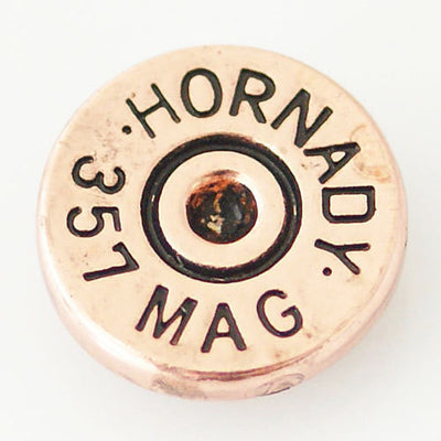 1 PC 18MM Hornady Mag 357 Faux Shell Case Gold Candy Snap Charm KB6284 CC0685