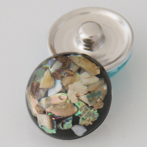 1 PC 18MM Resin Multi Color Silver Candy Snap Charm kb2219 CC0735