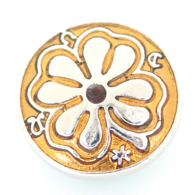 1 PC 18MM Yellow Clover Enamel Silver Candy Snap Charm kb8171 CC0888