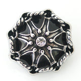 1 PC 18MM Star Silver Candy Snap Charm DS5007 CC1076