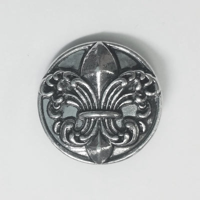 1 PC 18MM SHOP EXCLUSIVE Fleur De Lis Louisiana Silver Candy Snap Charm CC1182