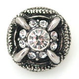 1 PC 18MM White Claw Rhinestone Silver Candy Snap Charm KB8809 CC1433