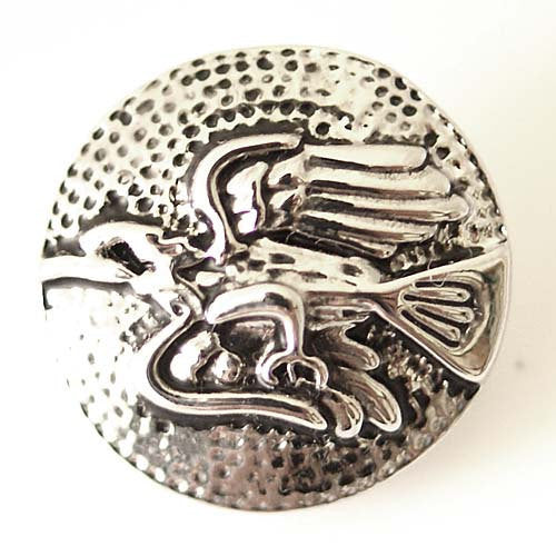 1 PC 18MM Bird Silver Candy Snap Charm ds5112 CC1439