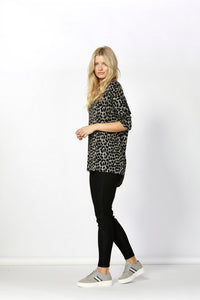 Betty Basics Printed Milan 3/4 Sleeve Top