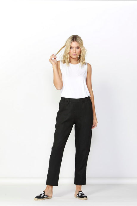 Betty Basics Rocco Linen Pant