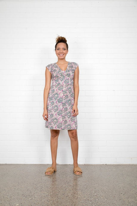 Boom Shankar Daisy Dress Mauve
