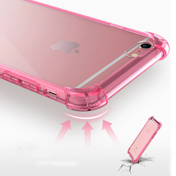 Shockproof Armor Clear- Pink