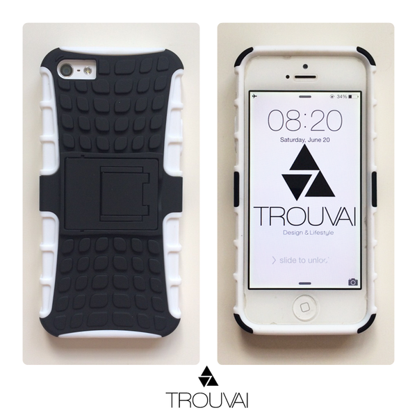 White Armor iPhone Case