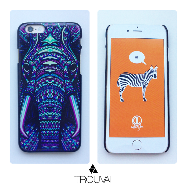 Estuche para iPhone 6. Modelo tribal de elefante.