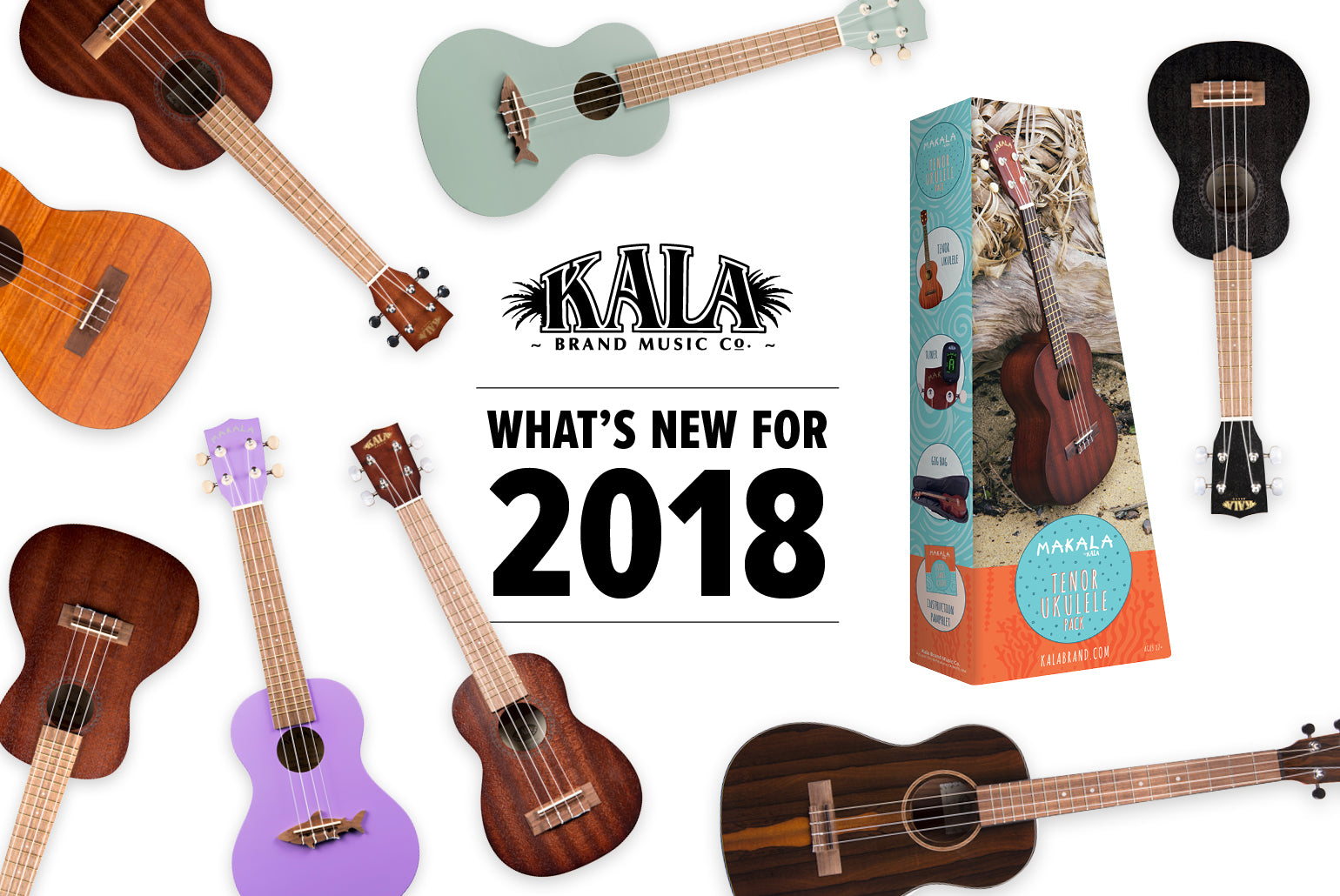 namm 2018 new ukulele preview kala brand music co. Black Bedroom Furniture Sets. Home Design Ideas