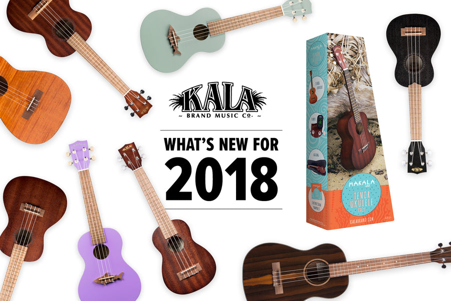 Kala Brand Music Co. 2018 New Ukulele Spread
