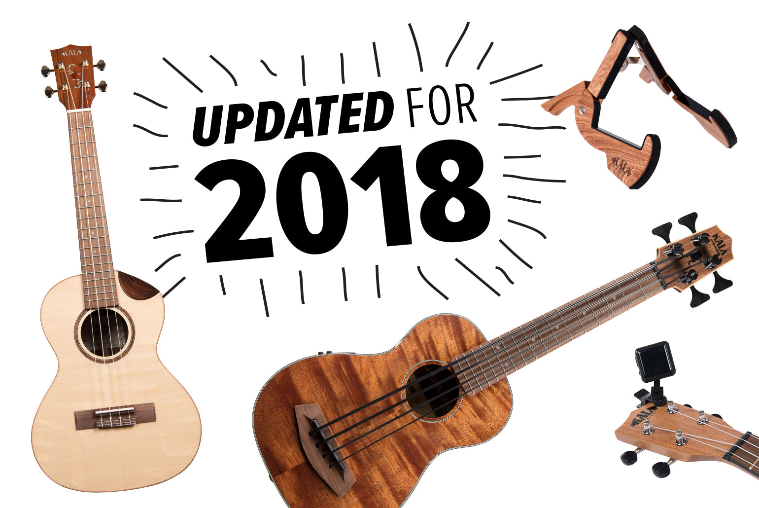 Kala 2018 Product Updates and New Accessories Spread