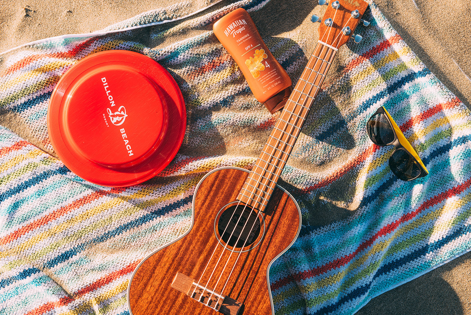 Kala Gloss Mahogany Tenor Ukulele at the Beach