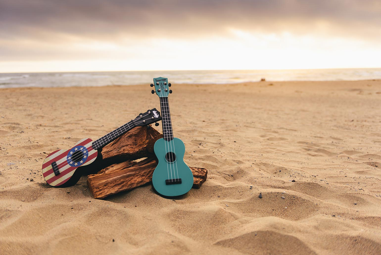 Kala Ukadelic and Waterman Ukulele at the Beach