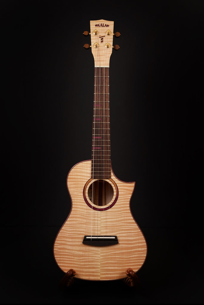 Three Cord Strand Maple Tenor Cutaway