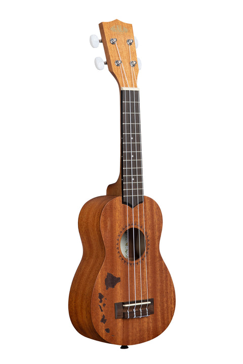 Satin Mahogany Soprano w/ Hawaiian Islands
